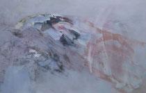Einsam aber frei, 2017, Eitempera, Ölkreide auf Leinwand, 100 x 150 cm