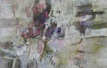 ohne Titel, 2017, Öl, Ölkreide auf Leinwand, 100 x 160 cm