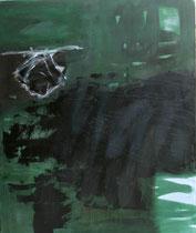 aus der Reihe der Kokons, 2014, Mischtechnik auf Leinwand, 120 x 100 cm