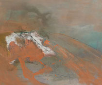 Einsam aber frei, 2012, Pigment auf Leinwand, 100 cm x 120 cm