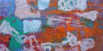 ohne Titel, 2018, Öl auf Leinwand, 40 x 80 cm