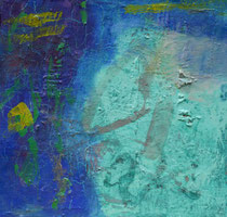 ohne Titel, 2018, Öl, Ölkreide auf Kunststoffplatte, 50 x 50 cm