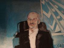 Walter Dorfmeister (Detail,Vorstufe),Acryl auf Molino,2008