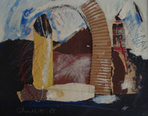 Landschaft mit Türmen, div. Materialien, 1999