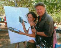 Mit Sandra Pires, Zakynthos 2006