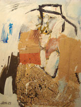 Bildnis James Joyce, Acryl Collage 1974