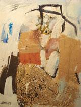Bildnis James Joyce, Acryl Collage 1974