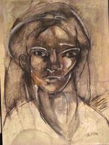 Porträtstudie 1, Michtechnik 1980