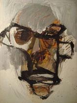 Jean Dubuffet, Acryl auf Karton, 2010