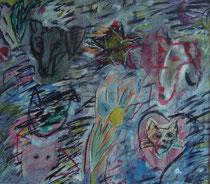 Hexi Multiple, Collage Mischtechnik 1995