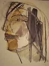 Kopfstudie, Tempera 1975