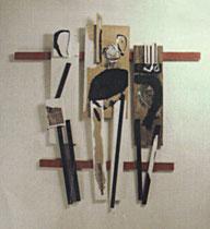 Hänge-Grazien, Bemaltes Holz 1995 (N.Ö.Landesregierung)
