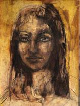 Porträtstudie 3, Mischtechnik 1980