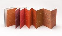 50. Arbeit 2013, 34 x 282 cm, 12 Aquarelle / Leporello