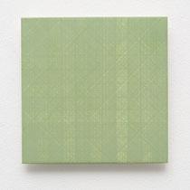 47. Arbeit 2014, 15 x 15 cm, Gouache auf Keramik