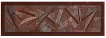 19. Arbeit 1995, 21 x 63 cm, Ritzzeichnung, Öl auf Papier / Leparello