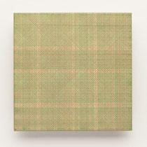 33. Arbeit 2014, 15 x 15 cm, Guasche auf Keramik