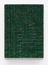55. Arbeit 2017, 22,5 x 16,5 cm, Acryl auf OSB-Platte