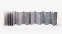 152. Arbeit 2020, 36 x 528 cm, Aquarell, Leparello