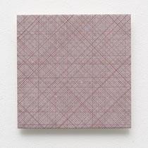 61. Arbeit 2014, 15 x 15 cm, Gouache auf Keramik