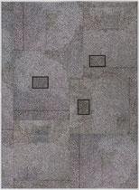 20. Arbeit 2008, 75 x 55 cm, Collage