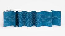 67. Arbeit 2019, 40 x 377 cm, Acryl auf Aquarellpapier / Leporello