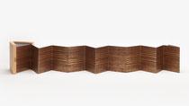 62. Arbeit 2020, 16.5 x 150 cm, Acrylfarbe auf Chromoluxkarton, Leparello