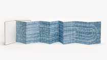 148. Arbeit 2020, 29.5 x 164 cm, Aquarell, Leparello