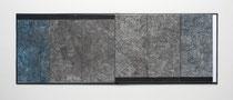 2. Arbeit 2004, 21 x 240 cm, 8 Ritzzeichnungen, Öl auf Papier / Leporello