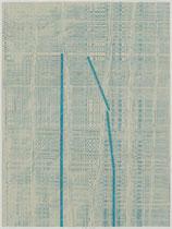 88. Arbeit 2018, 41,5 x 31 cm, Arcyl auf Offsetdruck