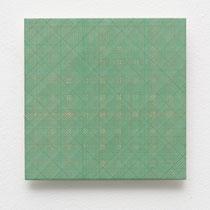 46. Arbeit 2014, 15 x 15 cm, Gouache auf Keramik