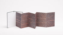68. Arbeit 2012, 24 x 102 cm, 6 Aquarelle / Leporello, Kunst & Museums-Bibliothek Köln