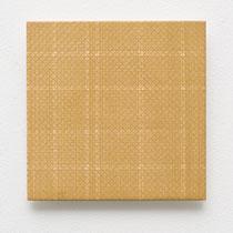 52. Arbeit 2014, 15 x 15 cm, Gouache auf Keramik