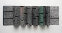 12. Arbeit 2004, 21 x 154 cm, 15 Ritzzeichnungen, Öl auf Papier / Leporello