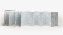 151. Arbeit 2020, 36 x 375 cm, Aquarell, Leparello