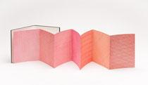 """125. Arbeit 2009, 25 x 160 cm, 8 Aquarelle / Leporello  aus Zyklus """"Farbenlehre""""- 8 Leporellos"""