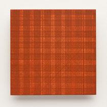 40. Arbeit 2014, 15 x 15 cm, Guasche auf Keramik
