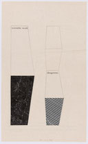 41. Arbeit 2006, 20 x 12 cm, Collage