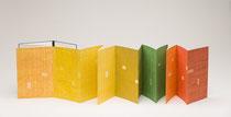 51. Arbeit 2013, 34 x 329 cm, 14 Aquarelle / Leporello