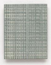 160. Arbeit 2016, 19,5 cm x 15,5 cm, Acryl auf Hartfaserplatte