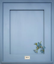 SKY   A clear, slightly periwinkle blue. Uplifting. Great inside bookcases, cabinets and kid's rooms.