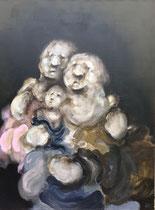 """"""" Couple et son enfant """" - 130 x 97 cm"""