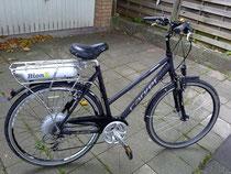 Nachgerüstetes Fahrrad mit BionX