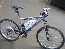 Nachgerüstetes Mountainbike mit BionX