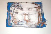 le rêveur de rien  pigment bleu  cuivre      50x65