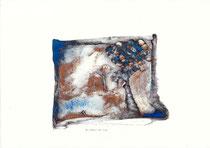 le rêveur de rien  pigment bleu  cuivre        30x40