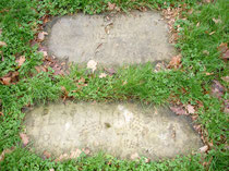 Kamień nagrobkowy psa i kota  Panien Mycielskich