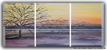 Acrylbild Triptychon Baum, Größe: 3 x 30 x 40 x ca 2cm, Preis: 190€, Jahr 2011