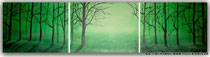 "Acrylgemälde Trilogie ""Wald "" Größe 3 x 40cm x 30cm insg. 120cm x 30cm  Preis: 150€, Jahr 2011"