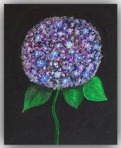 Acrylbild Hortensie, Größe 50x40x2cm, Jahr: 2012  Preis: 250€